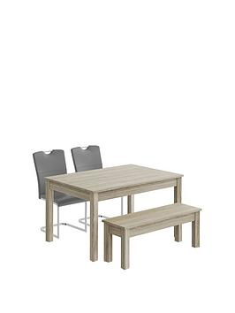consort-jupiter-130-cm-dining-table-bench-and-2-chairs