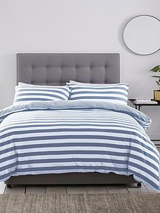 silentnight-jersey-stripe-cotton-duvet-set