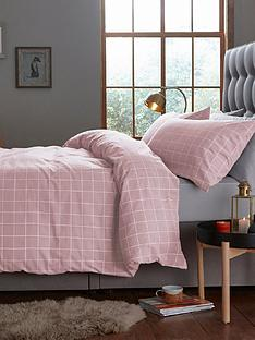 silentnight-brushed-cotton-window-pane-check-duvet-set