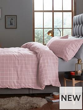silentnight-windowpane-check-duvet-cover-set-in-blush-pink