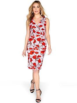 Girls On Film Poppy Pencil Dress - Printed