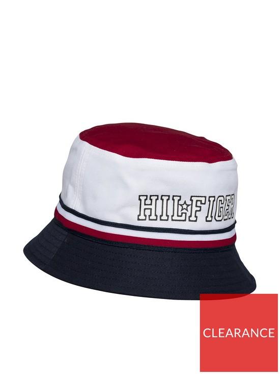Tommy Hilfiger Unisex Star Bucket Hat - Red White Blue  69bee5818317