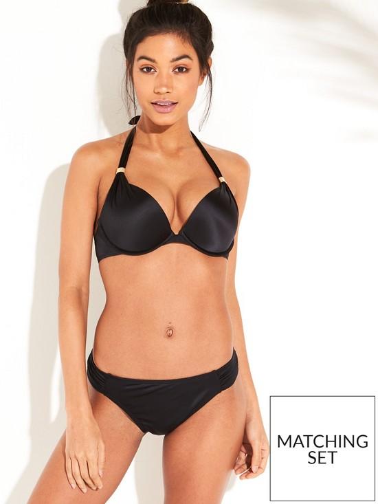 c6a9ee83ed1 DORINA Jamaica Shiny Super Push Up Bikini Top - Black