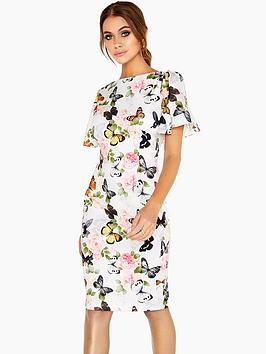 paper-dolls-ruffle-sleeve-printed-midi-dress-butterfly-print