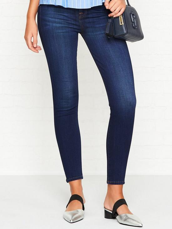 6439dab12e6c 7 FOR ALL MANKIND Aubrey Super High Rise Slim Illusion Skinny Jeans - Luxe  Starlight