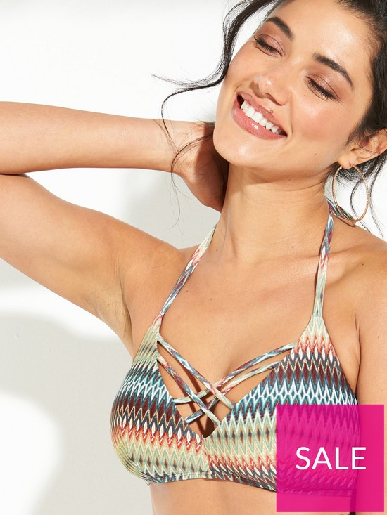 149c4c9141 ... DORINA La Concha Triangle Bikini Top - Chevron Print. View larger