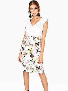 paper-dolls-frill-detail-2-in-1-dress-printed