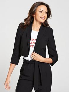 michelle-keegan-structured-shoulder-blazer-black