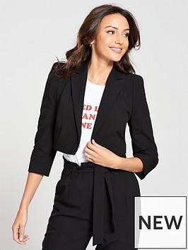 michelle-keegan-structured-shoulder-blazer-black