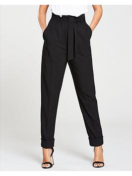 michelle-keegan-high-waist-tapered-trouser-black