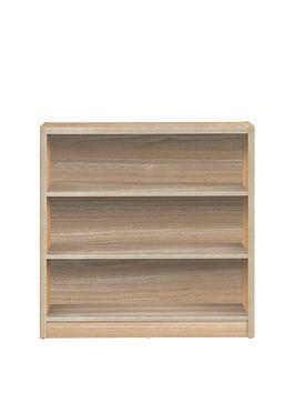 home-essentials--nbspmetro-small-wide-bookcase-oak-effect