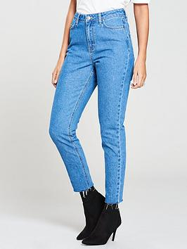michelle-keegan-high-waisted-mom-jeans-light-wash