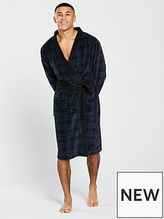 v-by-very-navy-check-robe