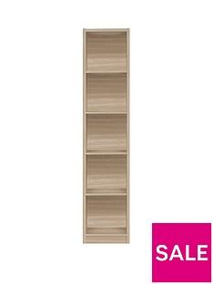 home-essentials--nbspmetro-tall-half-width-bookcase-oak-effect