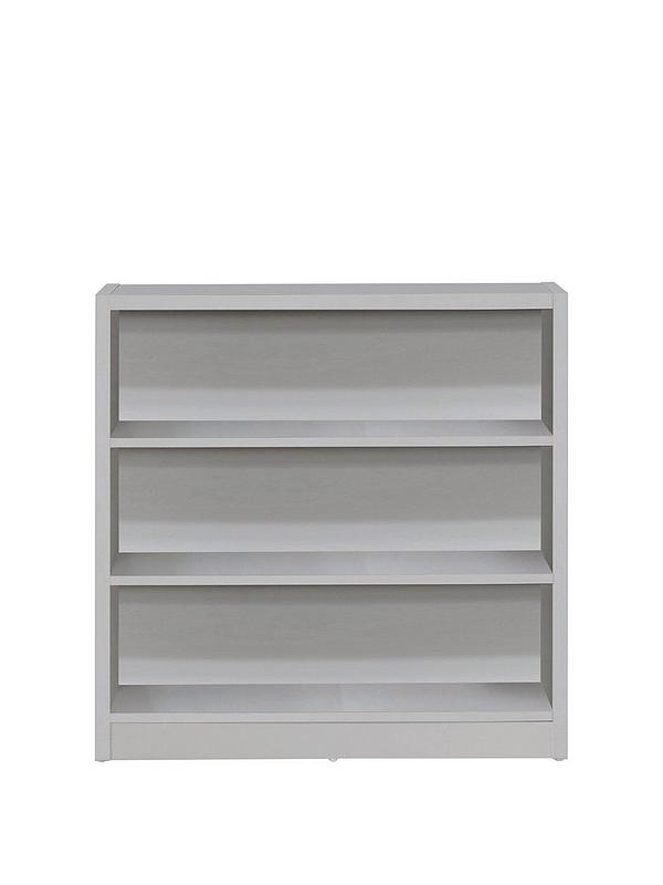 reputable site 8211f 464c1 Metro Small Wide Bookcase - Grey