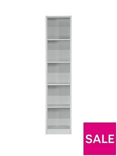 home-essentials--nbspmetro-tall-half-width-bookcase-grey