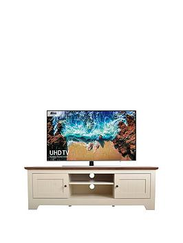 Devon Tv Unit - Ivory/Walnut - Fits Up To 65 Inch Tv