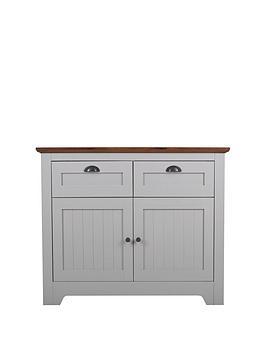 Devon Compact Sideboard - Grey/Walnut Effect