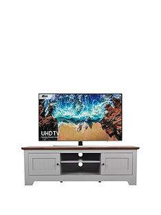 Devon Grey TV Unit - Grey/Walnut Effect - fits up to 65 inch TV