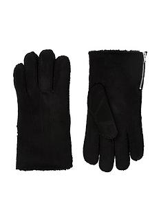 river-island-fauxnbspsuede-side-zip-gloves-black