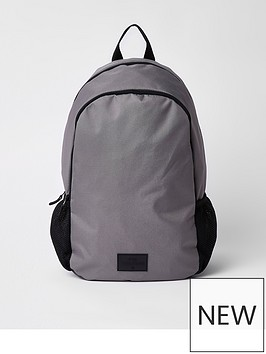river-island-blue-double-zip-compartment-rucksack