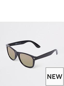 river-island-black-gold-smoke-lens-retro-sunglasses