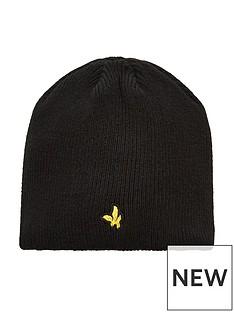 lyle-scott-boys-knit-ribbed-beanie-hat