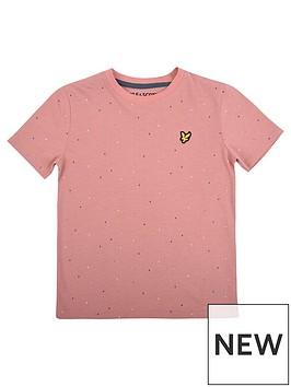 lyle-scott-boys-micro-print-short-sleeve-t-shirt