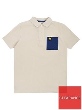 lyle-scott-boys-micro-print-pocket-short-sleeve-polo