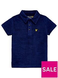 lyle-scott-boys-towelling-short-sleeve-polo