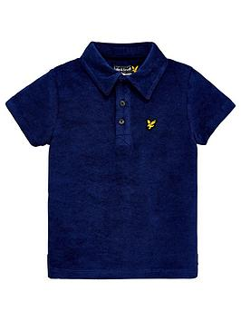 lyle-scott-boys-towelling-short-sleeve-polo