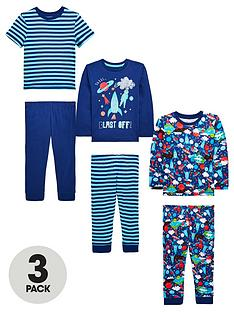 mini-v-by-very-boys-3-pack-space-rocket-pyjamas-blue-multi