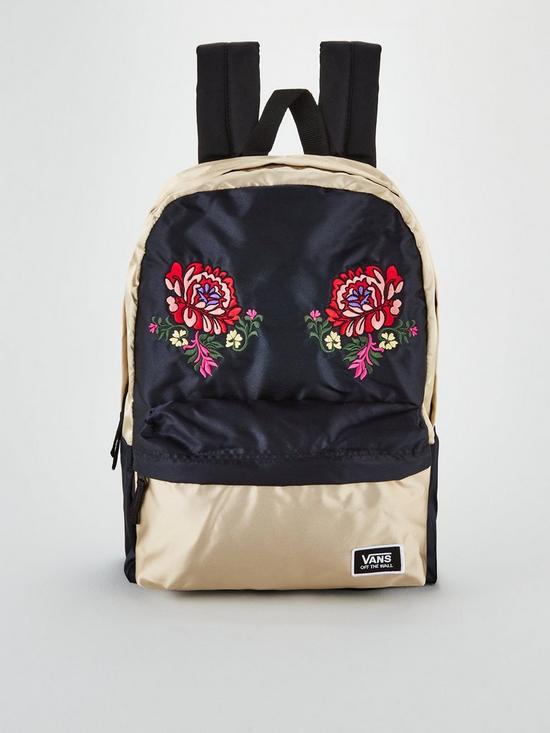 04bad7d43c Vans Deana Festival Embroidery Backpack - Black Gold