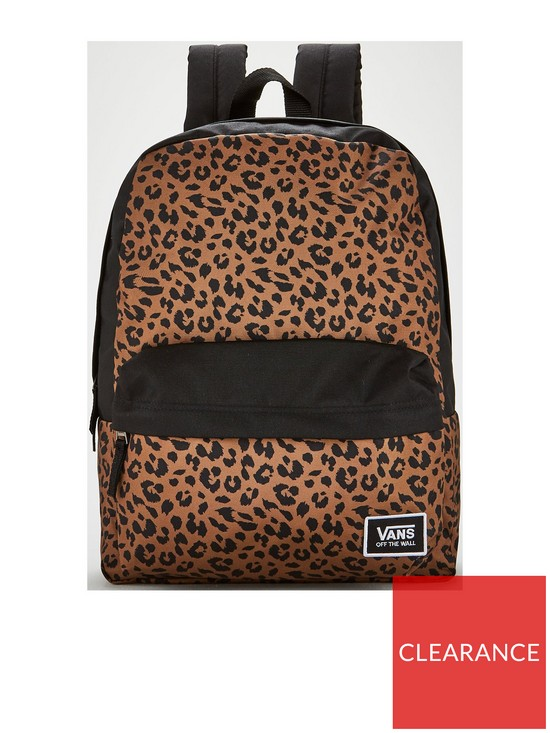 35c7b6e952f Vans Realm Classic Backpack - Leopard Print