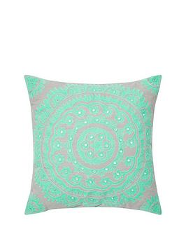 monsoon-mint-suzani-cushion