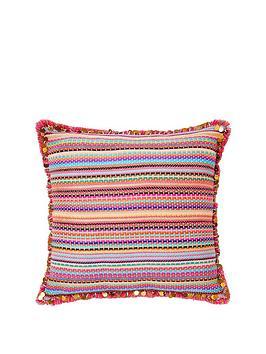 monsoon-bright-stitch-stripe-cushion