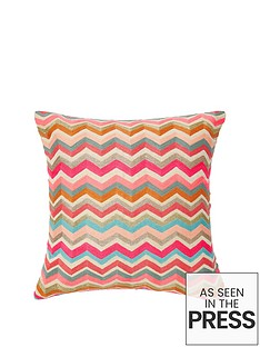 monsoon-bright-zig-zag-cushion