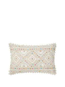 monsoon-pastel-bead-raffia-cushion