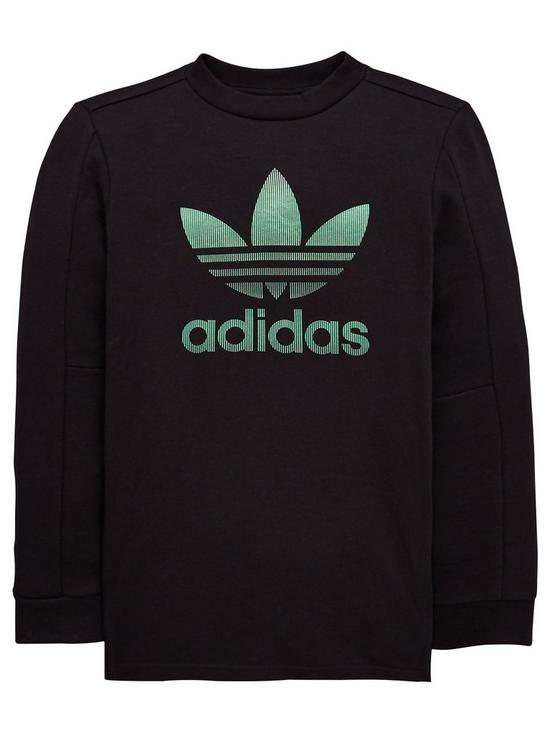 497750ecf adidas Originals Boys Long Sleeve Tee - Black | very.co.uk