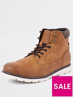 river-island-brown-leather-lace-up-boots