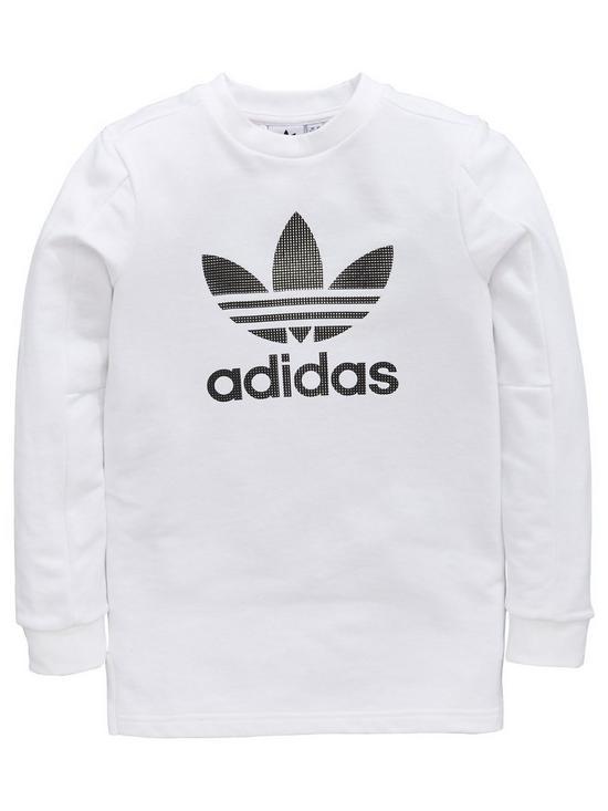 0a1efa4b8 adidas Originals Boys Long Sleeve Tee | very.co.uk