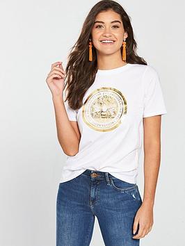 river-island-river-island-foil-print-bee-t-shirt-white