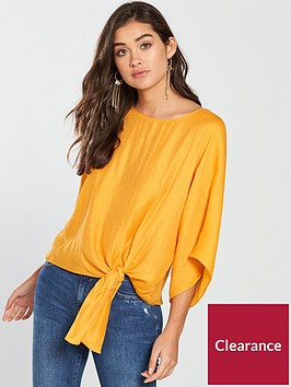 river-island-side-knot-top-orange