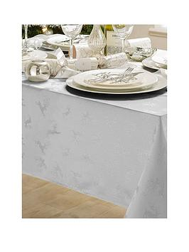 jacquard-metallic-deer-52-x-90-inch-tablecloth-silver