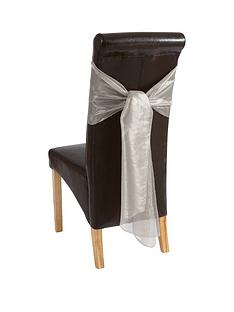 pack-of-4-metallic-organza-chair-bows-ndash-silver