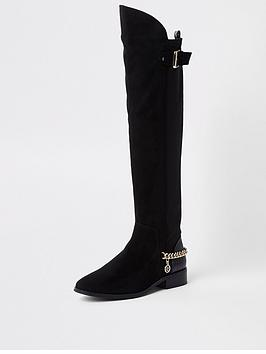 river-island-river-island-flat-chain-detail-over-the-knee-boot-black