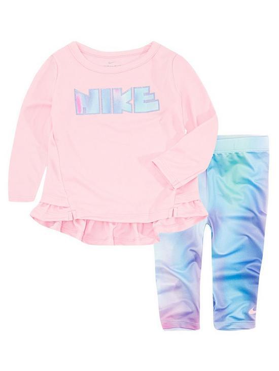 784ac0826d5e Nike Nike Baby Girls Dri-fit Peplum Tunic   Legging Set