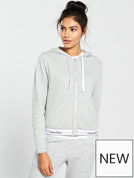 calvin-klein-modern-cotton-lounge-zip-through-hooded-top-grey