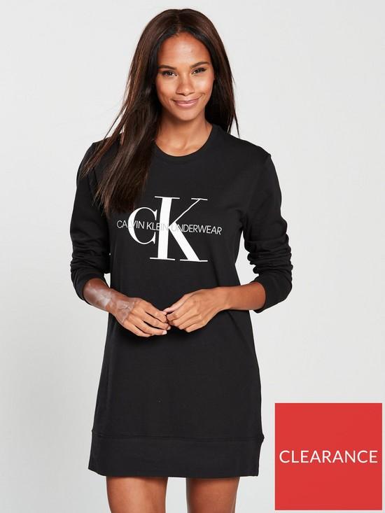 f2ce7f3dcb Calvin Klein Calvin Klein Long Sleeve Lounge Nightshirt