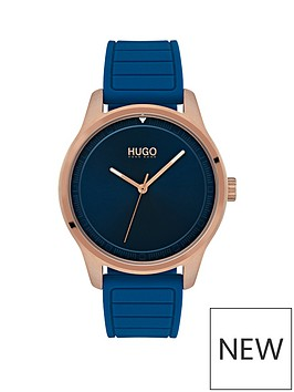 hugo-hugo-exclusive-move-blue-and-rose-gold-dial-blue-silicone-strap-ladies-watch